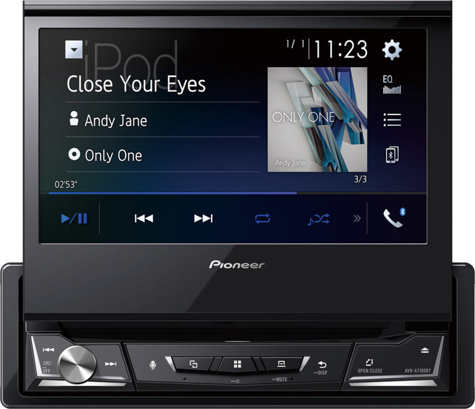 "Pioneer 7""  DVD/CD/MP3/WMA/WAV/AAC/DivX/Xvid/MPG1/2/4/JPG/Appradio multimédiás fejegység AVH-Z7100BT"