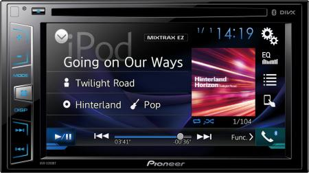"Pioneer 6,2"" DVD/CD/MP3/WMA/WAV/AAC/DivX/Xvid/MPG1/2/4/JPG/Appradio multimédiás fejegység AVH-X390BT"
